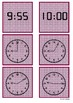 Time- 9 o'clock to 10 o'clock by 5 minute intervals