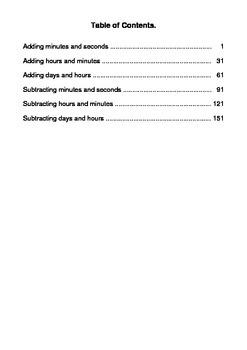 Time Addition and Subtraction Worksheets