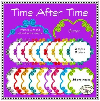 Time After Time - Glitter Frames