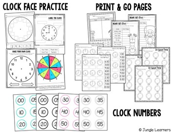 Time to the Hour and Half Hour: Printables, Centers & Games