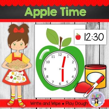 Apple Time Playdough Mats