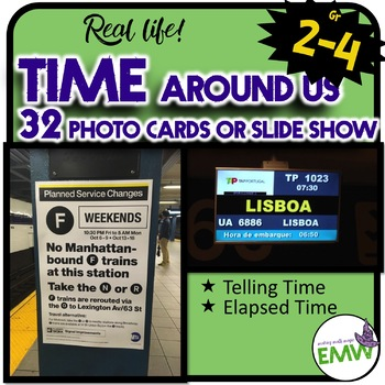 Time Around Us Real Life Picture Cards for Telling and Elapsed Time