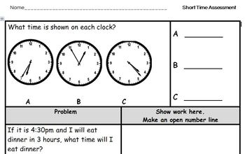 Time Assessment 3.MD.A.1