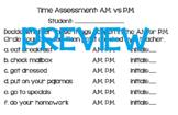 Time Assessment: A.M. vs P.M.