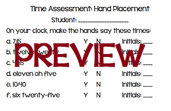Time Assessment: Hand Placement
