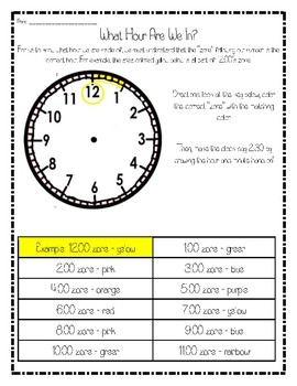 Time Assessment Packet