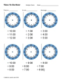 Time Assessment Worksheets (blank clocks)