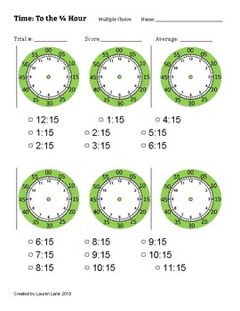 Time Assessment Worksheets (blank clocks)