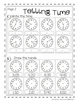 Time Assessment and Practice Sheets