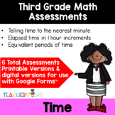 Time Assessments: Time to the Nearest Minute, Elapsed Time and Time Equivalency