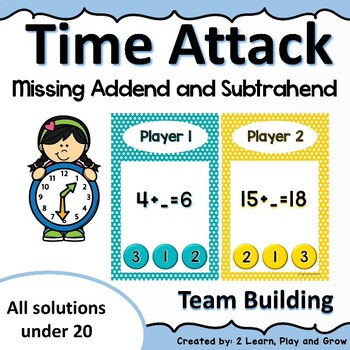 Time Attack Game Missing Addend and Subtrahend under 100 50% off 48hr
