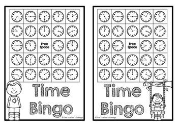 Time BINGO Card Set