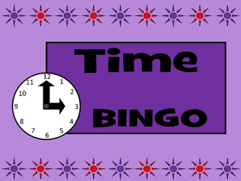 Time BINGO- ESL Time Vocabulary