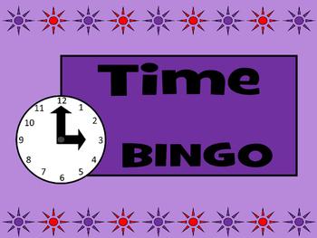 Time BINGO- ESL Time Vocabulary