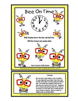 Time: Bee on Time ( Hour and Half Hour) I have you have game