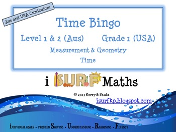 Time Bingo - now for Aus & USA Curriculum