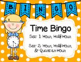 Time Bingo 2 Sets: Hour, Half-Hour & Hour, Half-Hour, Quar