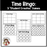 "Time Bingo: 3 ""Student Creates"" Games to Teach Telling Time"