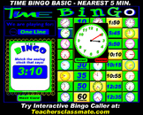 Time Bingo Basic - To the Nearest 5 Minutes
