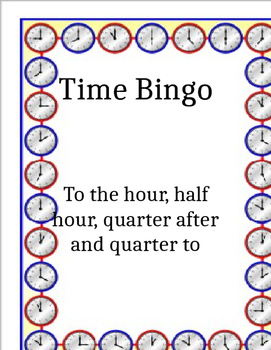 Time Bingo Game