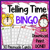 Telling Time Bingo (30 Cards)