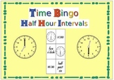 Time Bingo Half Hour Intervals
