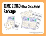Time Bingo Package - Hour (:00) Clocks Only (24 Bingo Cards Included)