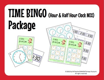 Time Bingo Mega Bundle (:00 Only, :00 & :30 Mix, and :00, :15, :30 & :45 Mix)