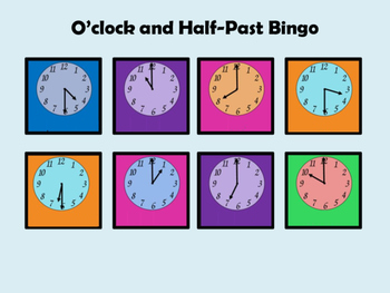 Time Bingo:  O'clock and Half-Past