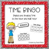 Time Bingo: Time to the Hour and Half Hour