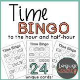 Time Bingo for 1st Grade- Time to the Hour and Half-Hour,