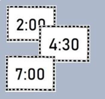 Time Bingo - o'clock and half past