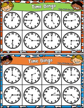 Time Bingo to the Hour, Half Hour, and Quarter Hour
