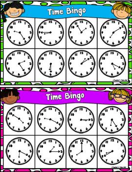Time Bingo to the Nearest 5 Minutes