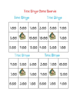 Time Bingo to the hour and half hour