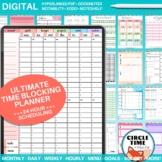 Hyperlinked Time Blocking Planner DIGITAL GoodNotes, Notab