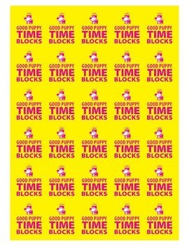 Time Blocks Mini . Child Behavioral & Emotional Tools by GOOD PUPPY