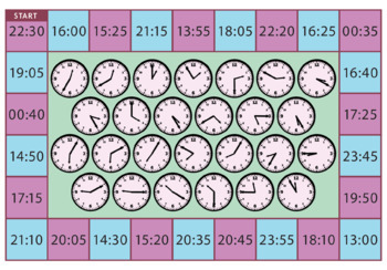 Time Board Games - Digital, Analogue, 24-Hour & Elapsed Time