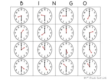 Telling Time Activities { Hour and Half Hour }