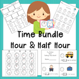 Telling Time Activities to the  Hour and Half Hour  VA SOL 1.9a
