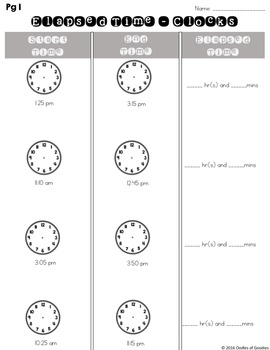 Time Activity Pack
