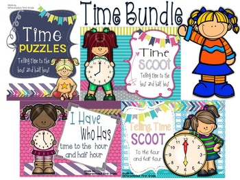 Time Bundle - scoot, puzzles, mix and mingle, I have who has