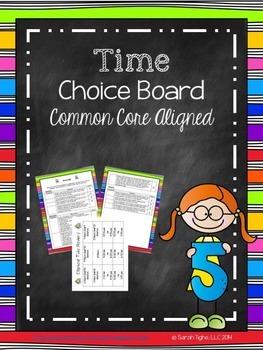Time Choice Board (Common Core Aligned)
