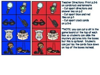 Time & Calendar Independent Center Game #7