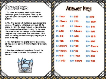 Time & Calendar Independent Center Game #8