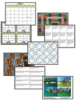 Time & Calendar Independent Center Games Bundle