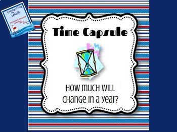 Time Capsule Activity: How much will change in a year?