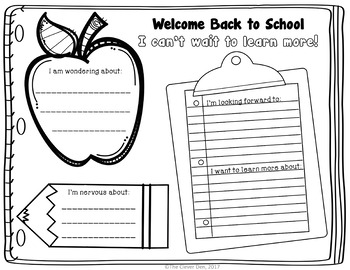 Time Capsule - Beginning and End of Year - Back to School Activity