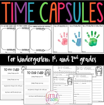 Time Capsule End of Year Reflections for Grades K-2 Print and Go!