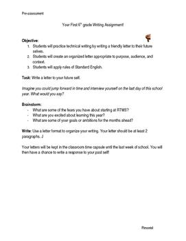 Time Capsule - First Week of School